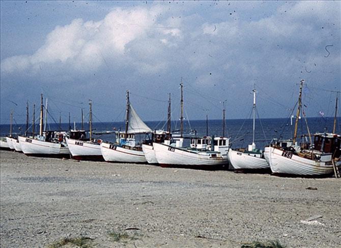 Klitmøller - hvide kystbåde